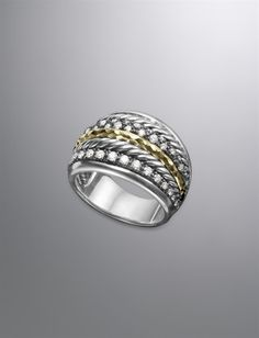 Love this ring - black, silver, gold - it goes with anything