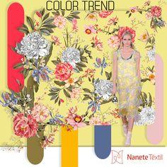 Color Ternd nesta estampa do Pre Summer 2018 #nanetetextil #malhas #malharia #produtonacional #modabrasileira #estampa #print #pattern #textil #inspiracao #nanetemalhas #pantone #colortrend