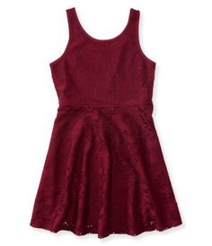 Kids' Tank Lace Flare Dress