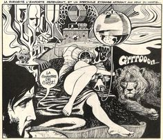 """""""Ulysse"""" version Sixties : entre science-fiction et sensualité - (. Emmanuel Lepage, Science Fiction, Comic Book Layout, Celtic, Morris, Retro Futuristic, Fantasy Rpg, Pulp Art, Erotic Art"""