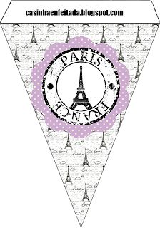 Kit Party Paris Lilac and Black  - banner piece