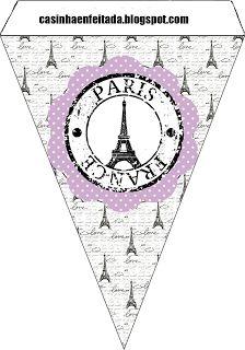 Kit Party Paris Lilac and Black  - banner piece