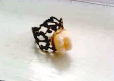Tooth Fairy's Cousin ring in gold by ExtolloJewelry on Etsy, $40.00