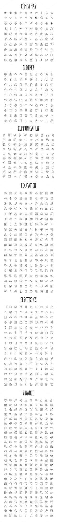 ♡ doodles °basic icons° ♡