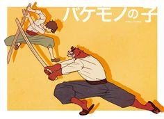 The Boy and the Beast #Kumatetsu #Kyuta (by まるかわ)