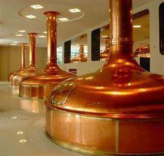 in ground copper brew kettle