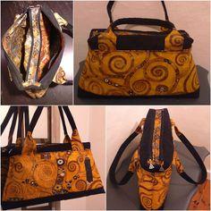 Sac City Zip-Zip imprimé Klimt cousu par Mathilde - Patron sac Sacôtin
