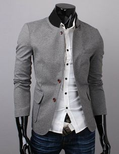 Gents Popped Collar Smart Jacket