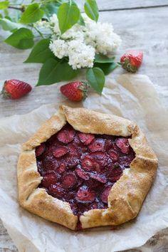 Chic, chic, chocolat...: Tarte rustique aux fraises