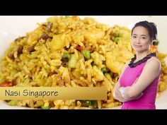 Zelf thuis Nasi Singapore maken - YouTube China Food, Asian Recipes, Ethnic Recipes, London Restaurants, Indonesian Food, Fried Rice, Poultry, Food Videos, Macaroni And Cheese