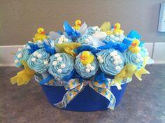 rubber ducky cupcake bouquet