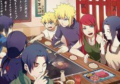 Uchiha and Namikaze/Uzumaki familys - Naruto, Minato, Kushina, Mikoto, Fugaku, Itachi Sasuke.
