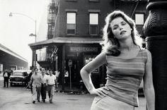 Lee Remick, The Bowery, New York City, by Sam Shaw, 1960