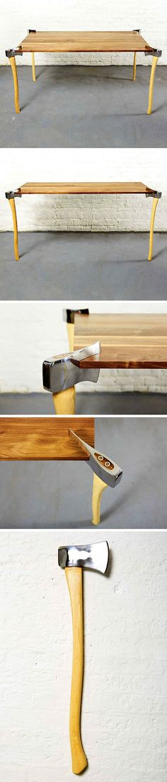DIY: Fire Axe Table | Shared by LION
