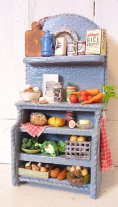 Dollhouse Miniature Kitchen Cabinet by KristinaBears on Etsy, $75.00