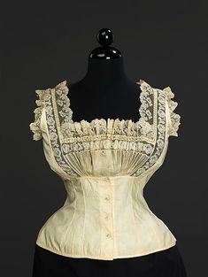 Corset cover  Date:1889 Culture:American or European Medium:cotton Accession Number:2009.300.3466