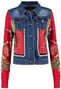 Jeans Bleu, Mode Jeans, Jean Desigual, Kleidung Design, Jeans Denim, Jaket Jeans, Denim Ideas, Embellished Jeans, Denim And Lace