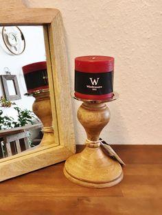 Kerzenständer Ø13x18 cm CORBARA Holz+nickel, elegant, modern, außergewöhnlich