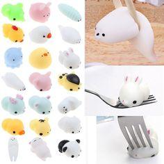 Mochi Soft Animal Squeeze Stretch Compress Squishy Decompression Kids Toy Gifts