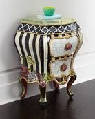 Botanica Bombe Chest by MacKenzie-Childs at Horchow. Botanica Bombe Chest by MacKenzie-Childs at Horchow. Whimsical Painted Furniture, Painted Chairs, Hand Painted Furniture, Funky Furniture, Paint Furniture, Shabby Chic Furniture, Furniture Makeover, Chest Furniture, Furniture Dolly