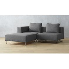 lotus 3-piece grey sectional sofa  sc 1 st  Pinterest : gregory sectional - Sectionals, Sofas & Couches