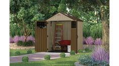 Backyard storage solutions backyard storage ideas unique 20 smart outdoor storage solutions to Backyard Storage, Outdoor Storage, Suncast Sheds, Garbage Shed, Storage Shed Kits, Storage Ideas, Shed Base, Steel Siding, Modern Shed