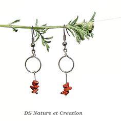 Gemstone earring healing crystal and stone by DSNatureetCreation www.etsy.com/listing/235333510/gemstone-earring-healing-crystal-and
