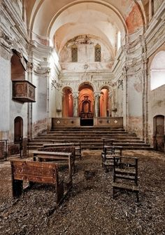 old church with dirt floor