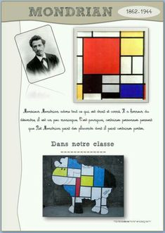 could apply to stained glass project for class windows Piet Mondrian, Mondrian Kunst, Mondrian Dress, Art Montessori, Visual Art Lessons, Object Lessons, Bible Lessons, Classe D'art, Art Worksheets