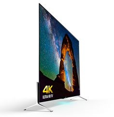 Sony XBR X900C Series 4K TVs. Sony's new ultra-thin 55, 65 and 75-inch Android-powered 4K TVs are so skinny you can almost see their skeleton. At a mind-warping 4.9mm thin, they are about the same thickness as your iPhone 6. The 3840×2160 display is backed by the new 4K Processor X1, improving color, clarity, and contrast for 4K content. Available in Spring 2015