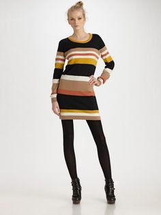 bold striped sweter dresses...Winter 2012