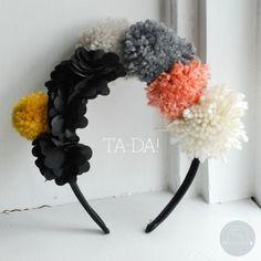 DIY Pom-Pom Headband.