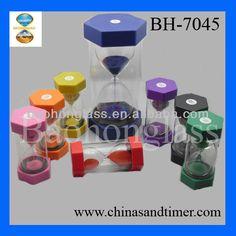 Home Decoration Versatile Hexagon Mega Colorful 20 Minute Plastic Sand Timer for Kids BH-7045 $2.29~$3.99