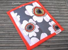 Seat Belt Strap Cover; Comfy Fresh Flowers reversible with Carrot Cotton by Comfy Accessories