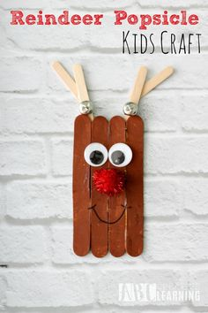Reindeer Popsicle Cr