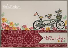 Stampin' Sarah!: A Pedal Pusher Thank You Card from Stampin' Up! UK Demonstrator Sarah Poulton