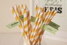 More DIY straw flags from http://www.polkadotbride.com/2011/08/diy-straw-flags-with-printable-template-tutorial/
