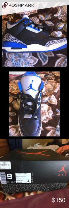 Air Jordan retro 3 size 9 Like new 9/10 condition with og box and receipt Jordan Shoes Sneakers