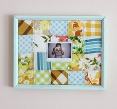patchwork photo frame - Smile and Wave via Sparkle Power