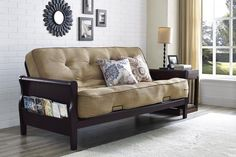 Comfortable Sofa Sleeper Bed Furniture Living Room Home Side Storage Wood  Arms