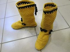 Summer FishNet boots knitted crochet.  Sold. Women's by kerikfelt