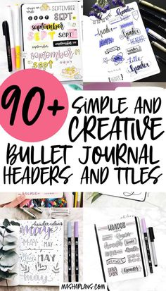 Awesome Bullet Journal header and title ideas, lettering styles, and banners. Tons of inspirations to decorate your Bullet Journal pages. #mashaplans #bulletjournal #bujo #headers #banners #titleideas