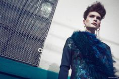 Dress Daniel Silverstain, Fur Stoles Adrienne Landau, Earrings Alibi