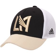 b3a8c5e1ab059 Youth LAFC adidas Black Authentic Structured Snapback Adjustable Hat