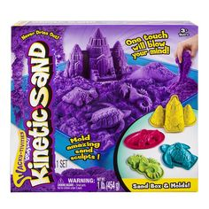 It's more fun when it's Wacky! Kinetic Sand is the squeezable sand where you can FEEL the fun! You've seen it before, but you've never felt anything like it. Pack it, pull it, shape it and love it, Kinetic Sand is so incredible you can't put it down. Now with the Kinetic Sand Sandbox, kids can play on a large play surface while containing the mess! Mould amazing sand sculpts and have endless hours of fun with the Kinetic Sand Sand Box!