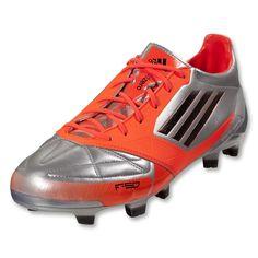 huge discount 44c85 2b3fe adidas F50 adizero TRX FG Soccer Shoes (Leather)  V21435  Metallic Silver