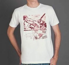 Camiseta Avião - Machine Cult - Kustom Shop - Camisetas de carro e moto