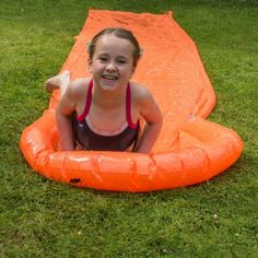 Kids of all ages absolutely love water games and none more than a Water Slide - its a great way to keep them cool and entertained during the summer. All Gifts, Gifts For Kids, Water Games, Water Slides, Unusual Gifts, Garden Hose, Grass, Cushion, Entertaining