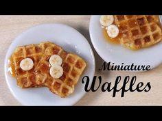 ▶ Realistic Miniature Waffles - Polymer Clay Tutorial - YouTube