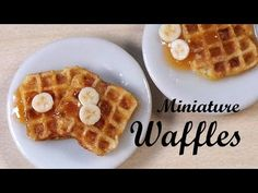 ▶ Realistic Miniature Waffles - Polymer Clay Tutorial - YouTube